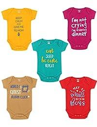 Kiddeo Baby Boys and Baby Girls Bodysuit (03)(Pack of 5)