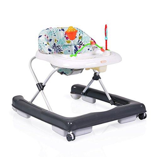 Lauflernwagen Laufhilfe Ginny höhenverstellbar gepolsteter Sitz Spielcenter grau