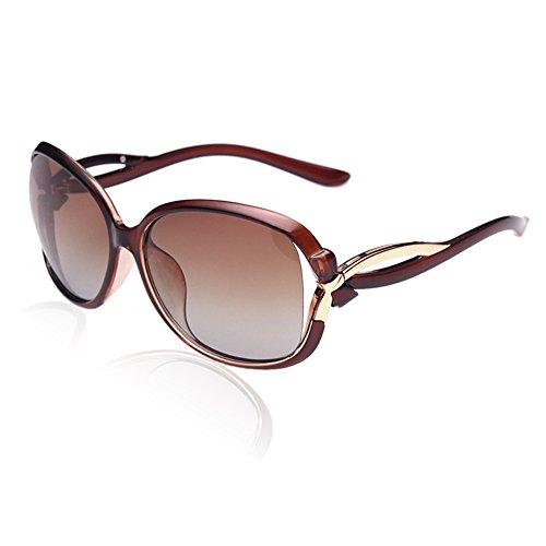 Duco Women's Stylish Polarized Sunglasses Star Glasses 100% UV Protection 2229 (Brown)