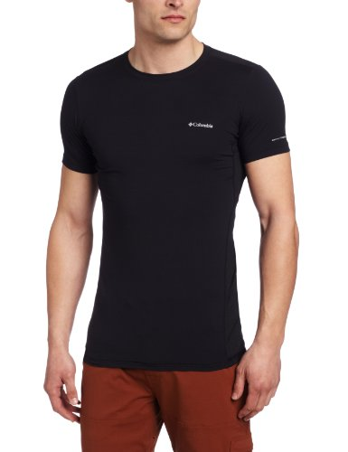 Columbia Funktionsshirt Kurzarm Men S Coolest Short Sleeve Top Camisa, Hombre, Negro, S