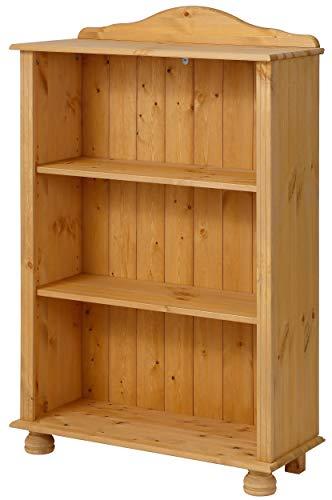 Bücherregal Landhaus Regal Kiefer Massivholz klein Standregal 3 Fächer Wohnzimmer Büro 77 x 30 x 116 cm -
