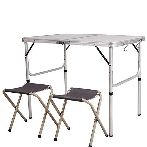 DX Klapptisch Aluminium im Freien Tisch und Stuhl gesetzt hoch und niedrig Zwei Barrel Barbecue-Tisch Holzmaserung EIN Tisch 2 Hocker 90 * 60 * 70cm90 * 60 * 70 + 2 Hocker -