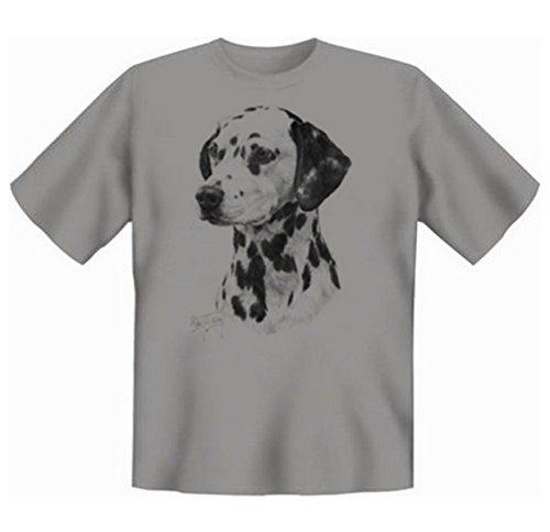Dalmatiner T-Shirt Hunde Motiv Fb grau Grau
