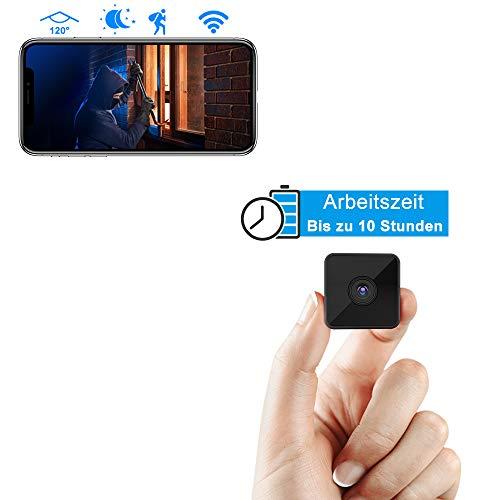 Mini Kamera,Luowice Full HD 1080P Tragbare Kleine WLAN Überwachungskamera, Mikro Nanny Cam mit Bewegungserkennung und Nachtsicht mit unsichtbarem Infrarot Licht 3000mAh Batterie mit großer Kapazität