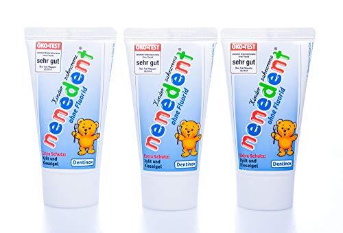 3x Nenedent Kinderzahncreme ohne Fluorid (3x 50ml) -