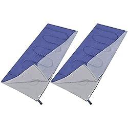 Festnight 2tlg-Set Tragbar Rechteckig Schlafsack 210x85cm Reiseschlafsack Campingschlafsack mit Packbeutel für Outdoor Camping Wandern