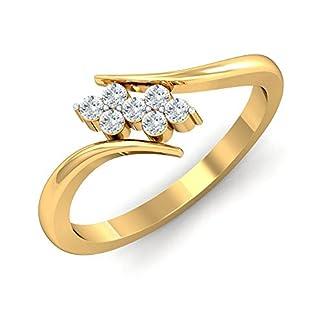 Stylori 18k Yellow Gold and Diamond Duo Flora Ring