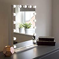 At Home Comforts Light Up Hollywood Mirror with Dimmable LED Globe Lights for Makeup, Vanity Table