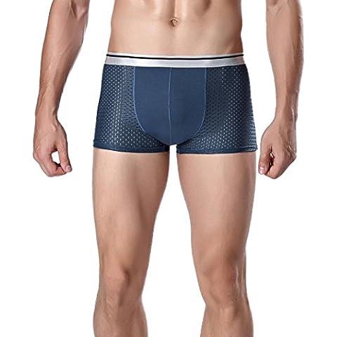 Calzoncillos para hombre, Amlaiworld Bulto bolsa suave calzoncillo retro (azul oscuro, XXXL)