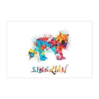 ArtsyCanvas Siberian Watercolor Splatter Art (Poster), 36 x 24