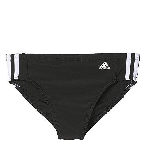 adidas Jungen Infinitex Essence Core 3-Stripes Badehose, schwarz (Black/White), 116