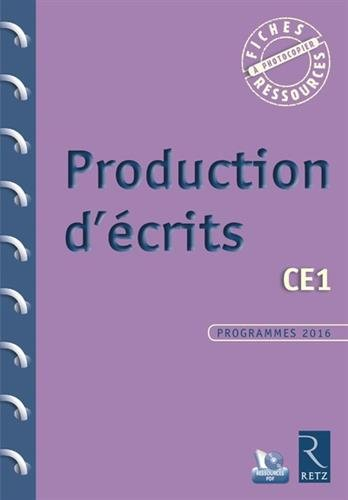Production d'écrits CE1