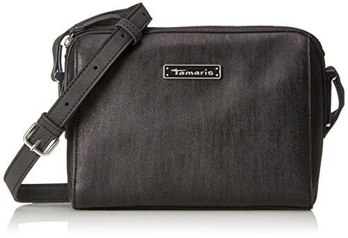 Tamaris Damen Nadine Crossbody Bag Umhängetasche, Schwarz (Black Comb.), 9,5x16x21 cm