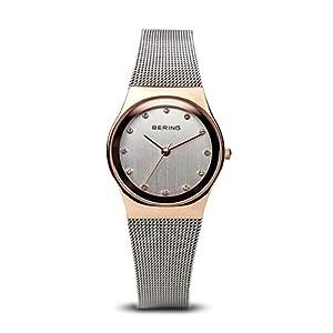BERING Reloj Analógico para Mujer de Cuarzo con Correa en Acero Inoxidable 12927-064