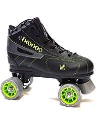 KRF Hockey Chronos - Patines en Paralelo para Hombre, Color Negro/Verde, Talla