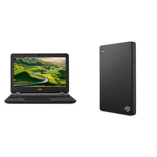 Acer Aspire 3 14-Inch Notebook (Intel Celeron N3350, 4 GB RAM, 1 TB HDD, Intel HD Graphics 500, Windows 10 Home) + 2TB Seagate Backup Plus Slim External Hard Drive