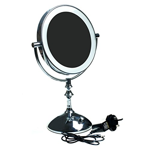 himry-led-make-up-stand-mirror-8-inch-with-uk-plug-brightness-adjusted-stepless-battery-operated-or-
