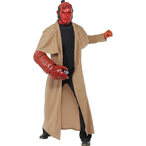 y Herren Fasching Karneval Kostüm M 48/50 (Hellboy Kostüm)