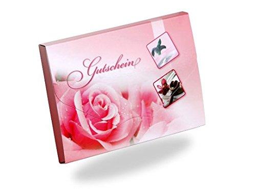 Gutscheinkarten Cute Case (10 Stück) - Gutscheine für Kosmetik, Wellness, Beauty - außergewöhnliche Form als kleine Geschenkbox!