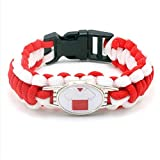 JJZHY Schmuck Polnischen Fußball-Team Fans Armband Trikot Armband Geschenk Junge,Polen,M