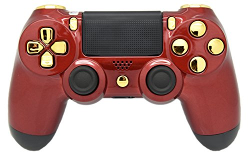 Rot & Gold PS4 Rapid Fire Modding Controller, Funktioniert mit Allen Spiele, Cod, Rapid Fire, Dropshot, Mehr - Of Spiele Call Duty