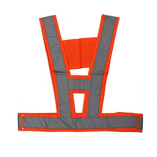 GOZAR Visibility Traffic Waistcoats Vest Security Reflective Stripes Safety Jacket - Orange - Traffic Safety Vest