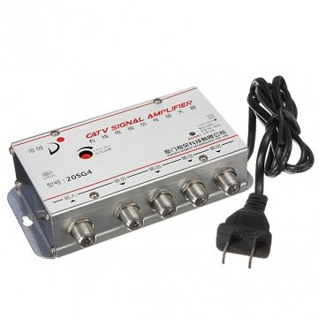 Souked 4 Way CATV Kabel-TV -Signal-Verstärker AMP Video Booster Splitter Tv-splitter-booster