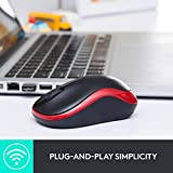 Logitech M185 Wireless Mouse USB for PC Windows, Mac and Linux, Grey with Ambidextrous Design