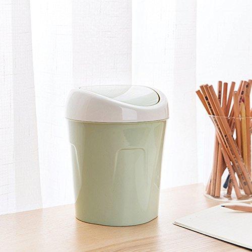Niocase Abfalleimer, Desktop Mülleimer Mülleimer Mini Papierkorb Aufbewahrungsbox Kunststoffbehälter für Office Home Küche Schlafzimmer, Grün