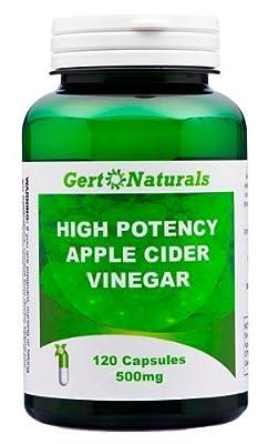 Gert Naturals, High Potency Apple Cider Vinegar, 500mg, 120 Capsules from Gert Naturals