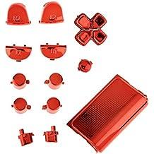 Reemplazo Accesorios Kit de Botones Enchapados para Sony PS4 Controlador Rojo