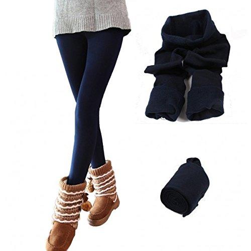 ea3a6c80fae39 Leggings térmico con interior de felpa mujer chica varios colores y tamaños  - Azul oscuro