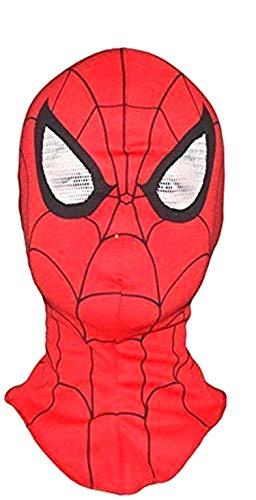 Piccoli monelli maschera spider man adulto mascherina carnevale uomo ragno in tessuto elastico super eroi