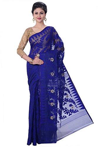 Tjsarees Handloom Silk Saree (Tj500053_Blue_Free Size)