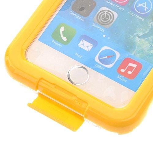 Wkae Case & Cover pour iphone 6 plus &6s plus ip68 protection étanches avec cordon ( Color : Yellow ) jaune