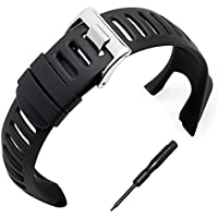 Phifo, cinturino in morbida gomma nera, cinturino di ricambio con attrezzo incluso, per Suunto Ambit 3 PEAK / Ambit 2 / 1
