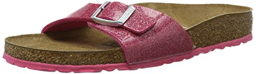 BIRKENSTOCK Unisex Madrid Birko-flor Pantoletten Narrow Fit , Rosa (Magic Galaxy Bright Rose) , 36 (Schmal) -