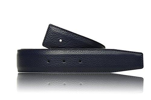 Blauer Wendegürtel in echt Leder für Herren & Damen 31mm Breiter Gürtel in Blau (95 cm)