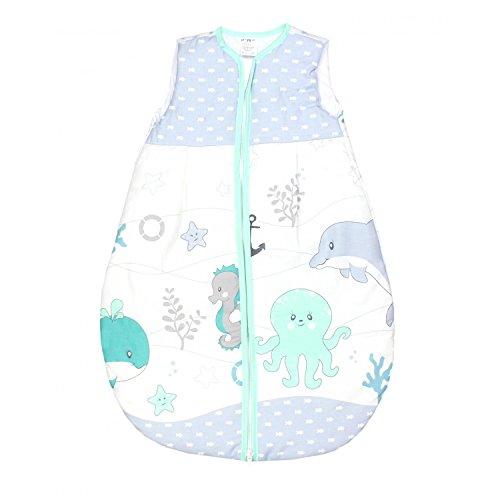 TupTam Baby Schlafsack Wattiert Ohne Ärmel ANK001, Farbe: Ozean Grün, Größe: 104-110