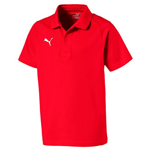 Puma Kinder Liga Casuals Polo Jr T-Shirt, Red White, 128