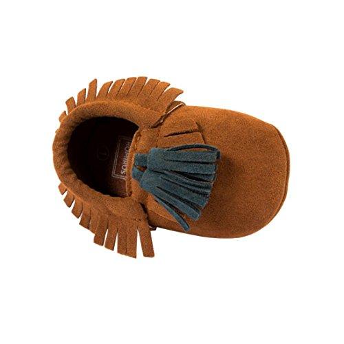 Baby schuhe Jamicy® Kleinkind Baby Kind Troddel weiche Sole Prewalker Schuhe Säuglingsjunge Mädchen Schuhe (6~12 Monat, Grau) Braun