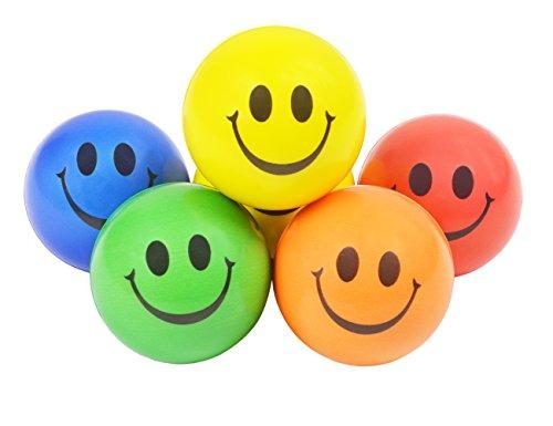 er Smiley Bouncy entspannbare Squeeze Ball Knautschball Antistressball Stress Relief Spielzeug (Smiley-bälle)