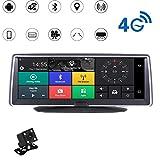 TLgf Car Dash Cam, Fahrregender, Dual-Aufnahme HD Bluetooth WIFI4G Netzwerk 170 ° Schießen Winkel Bewegungserkennung Loop-Recorder Nachtsicht