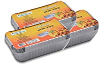 Freshee Pack of 3 x 10 pcs Aluminium Silver Foil Container of 660ml| 100% Recyclable Food Storage Disposable Containers with Lid For Kitchen | Bacteria Resistant