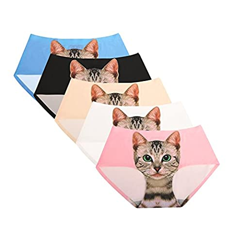 Femmes Soft Cat Invisibles Hipster Panty Pack De
