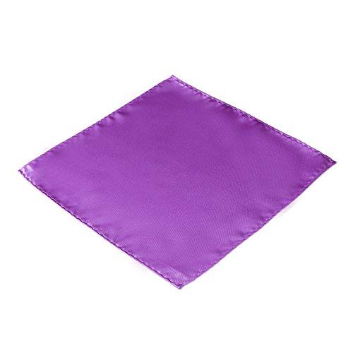 DonDon Herren Einstecktuch lila (Brusttasche-krawatte)