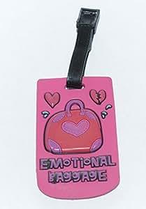 Emotional Baggage Design Silicone Rubber Travel Bag Name Tag /Badge /Label Holder /Hang Luggage Tag,