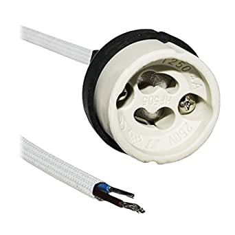 Decrescent Support de Lampe GU10 LED de Marque avec Rallonge Résistante au Feu de 130mm