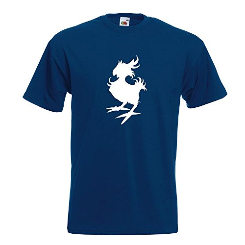 KIWISTAR - Gelber Vogel T-Shirt in 15 verschiedenen Farben - Herren Funshirt bedruckt Design Sprüche Spruch Motive Oberteil Baumwolle Print Größe S M L XL XXL Navy