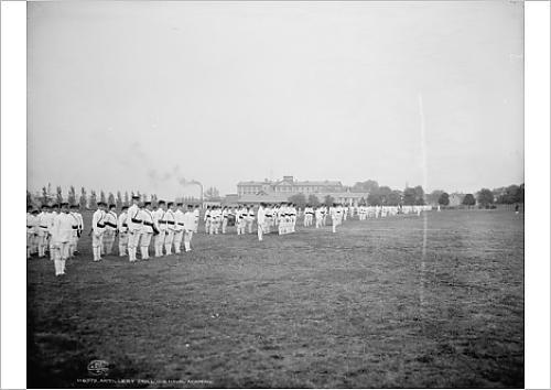 fine-art-print-of-artillery-drill-us-naval-academy-annapolis-maryland-c1903-b-w-photo